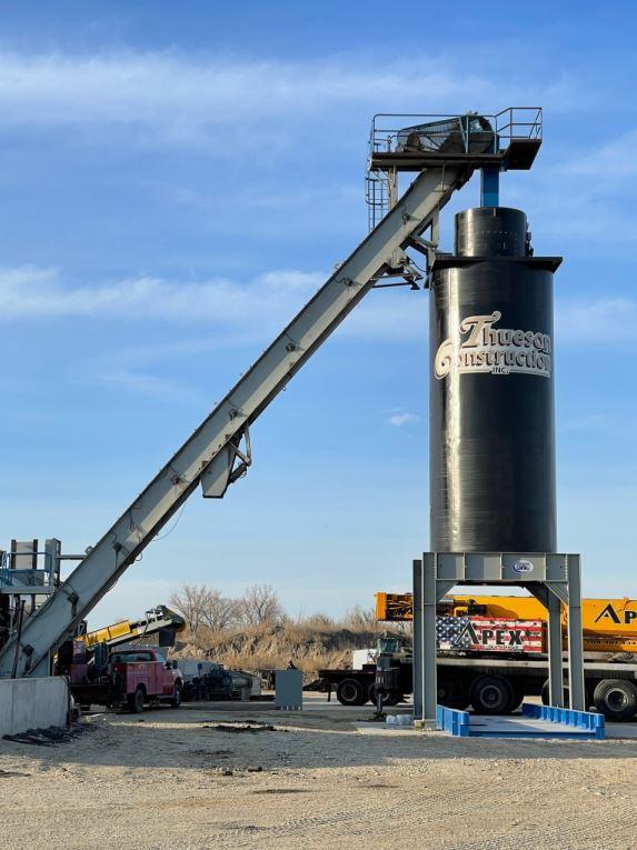 hot mix silo asphalt